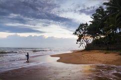Tropisches Paradies in Sri Lanka lizenzfreies stockfoto