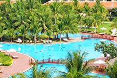 Tropisches Pool Stockfoto