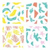 Tropisches seamsless Muster rollen 1 zusammen Lizenzfreie Stockfotos