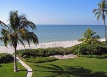 Tropisches Strand-Grenzgebiet Stockbild