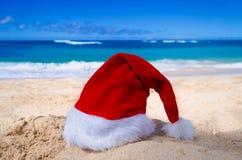 Tropisches Strand Weihnachts- und des neuen Jahreshintergrund Lizenzfreies Stockbild