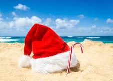 Tropisches Strand Weihnachts- und des neuen Jahreshintergrund Stockfoto