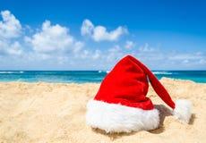 Tropisches Strand Weihnachts- und des neuen Jahreshintergrund Stockfotografie