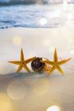 Tropisches Strandfest der Kunstflitterwochen lizenzfreies stockbild