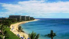 Tropisches Strandurlaubsort-Paradies (HD-Zeit-Versehen) stock video footage