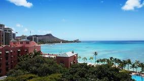 Tropisches Strandurlaubsort-Paradies - Waikiki, Hawaii stock video footage