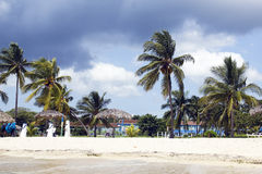 Tropisches Sturm-WARNING. stockfoto