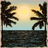Tropisches Tagesweinlese-Plakat Stockfotografie
