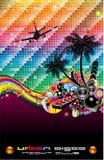 Tropisches Tanz-Disco-Flugblatt für lateinisches Musikereignis Lizenzfreies Stockfoto