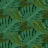 Tropisches tileable Muster lizenzfreie abbildung