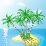 tropisk ö Vektor Illustrationer