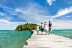 Tropisk ö i Cambodja Arkivbild