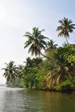 Tropisk ö i havet av Sri Lanka Arkivbilder