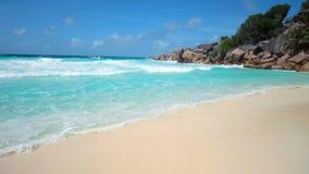 Tropisk ö i Indiska oceanen lager videofilmer