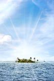 tropisk öde ö Arkivfoton