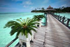 tropisk ösemesterort Arkivfoton