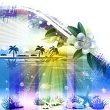 tropisk abstrakt bakgrund Royaltyfria Bilder