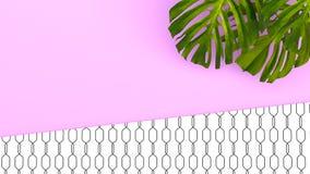 Tropisk bakgrund för färg med djungelväxter framförande 3d 3d il royaltyfri illustrationer