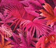 Tropisk bakgrund för olje- målning för rainforest Arkivbild