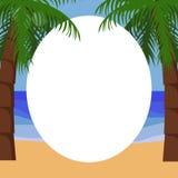 Tropisk bakgrund för palmträd Arkivfoto