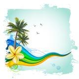 Tropisk bakgrund för sommar Royaltyfria Bilder