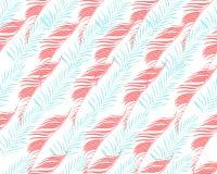 tropisk bakgrund Gömma i handflatan den sömlösa modellen för vektorn med exotiskt Tr Arkivfoton