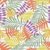 Tropisk bakgrund med färgrika palmblad geometrisk bakgrund Arkivbild