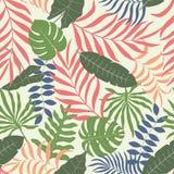 Tropisk bakgrund med palmblad Arkivbild