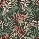 Tropisk bakgrund med palmblad seamless blom- modell S Royaltyfri Fotografi