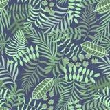 Tropisk bakgrund med palmblad seamless blom- modell S Arkivbild