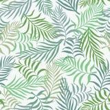 Tropisk bakgrund med palmblad seamless blom- modell S Arkivfoto