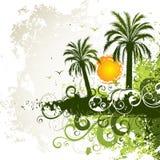 tropisk bakgrundsö Arkivfoton