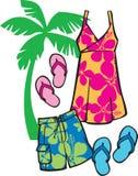 tropisk beachwear Arkivfoton