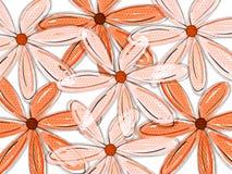 tropisk blom- modell stock illustrationer