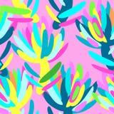 Tropisk blom- modell för sömlös sommar Arkivbild