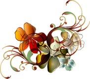 tropisk blom- scroll Royaltyfria Foton