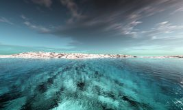 tropisk digital lagune royaltyfri illustrationer
