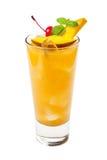 Tropisk drink som isoleras på vit bakgrund Arkivfoto