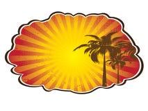 tropisk färgstänksun Royaltyfri Illustrationer
