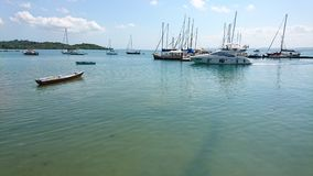 Tropisk fartygmarina på eftermiddagen Fotografering för Bildbyråer