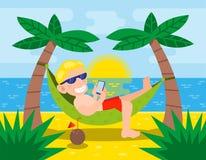 tropisk ferie vektor illustrationer