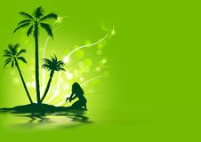 Tropisk ferie Arkivfoto