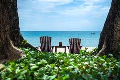 Tropisk ferie på stranden Royaltyfria Bilder