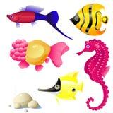 tropisk fisk stock illustrationer