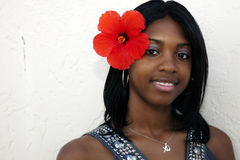 tropisk flickaö arkivfoton