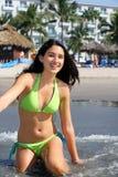 tropisk flickasemesterort Fotografering för Bildbyråer