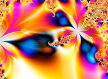 tropisk fractalguld royaltyfri illustrationer