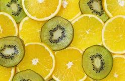 Tropisk fruktbakgrund Arkivbilder