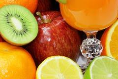 Tropisk fruktbakgrund Arkivfoton