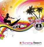 tropisk händelsereklambladmusik Royaltyfri Foto